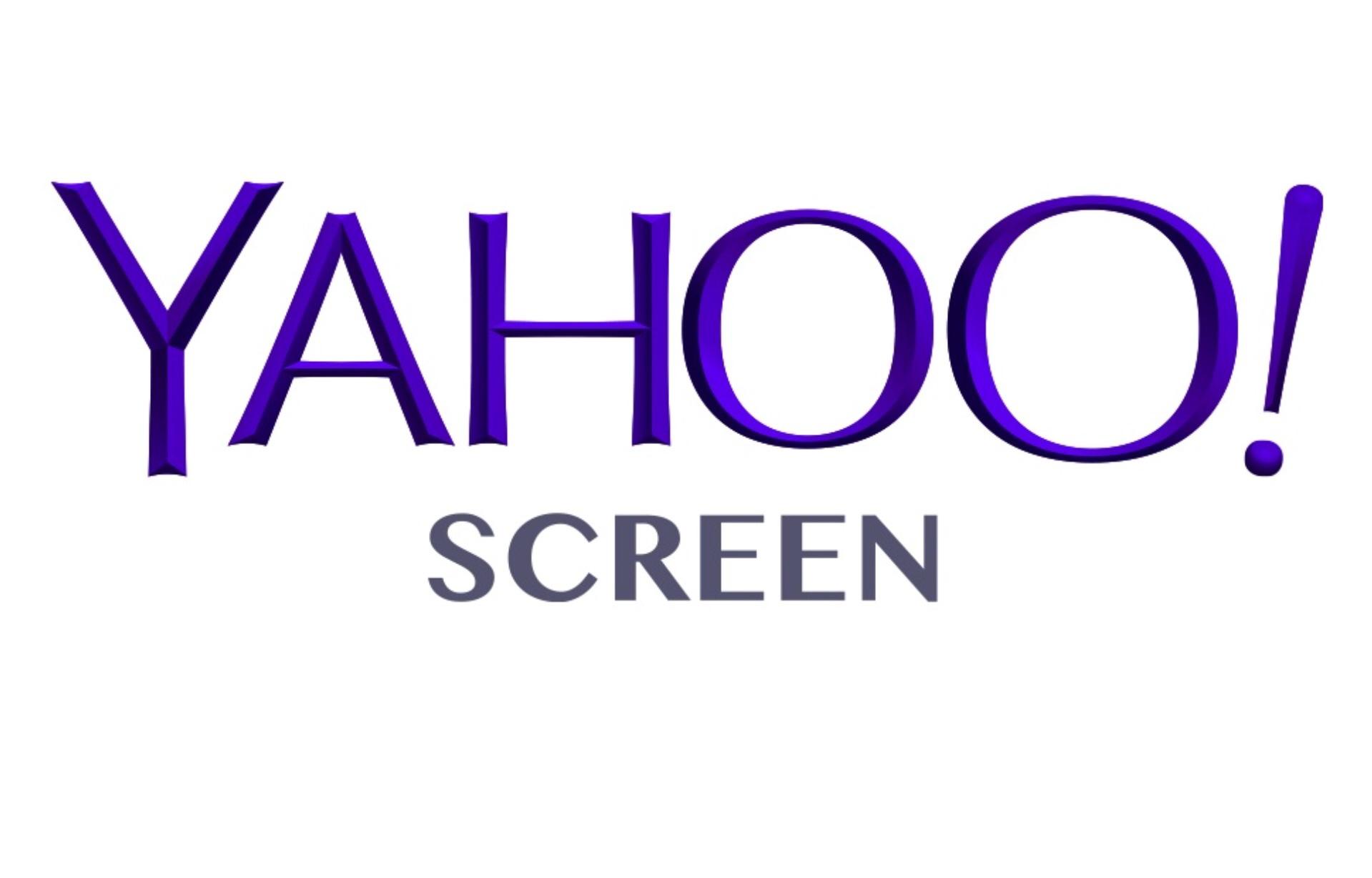 Yahoo Screen white logo.jpg - Screen Bean Characters PNG