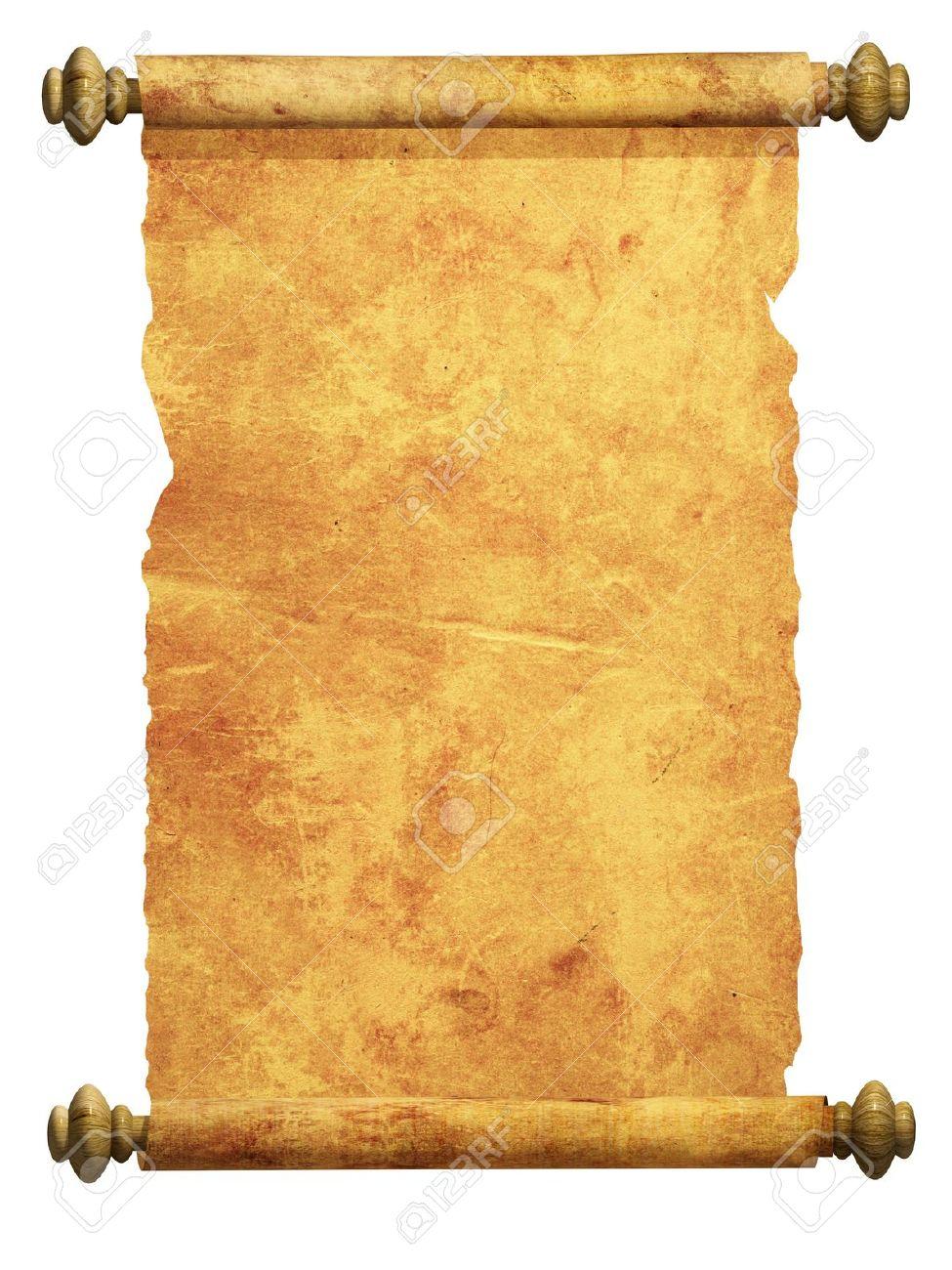 Drawn scroll papyrus #4 - Scroll PNG HD