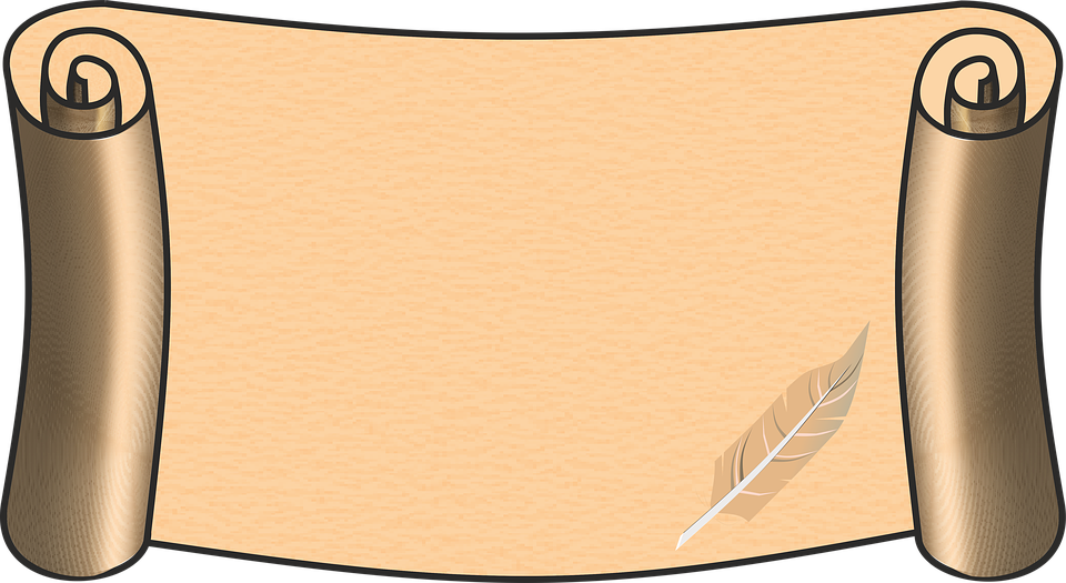 Scroll Paper Pen Parchment Old Scroll Scro - Scroll PNG HD