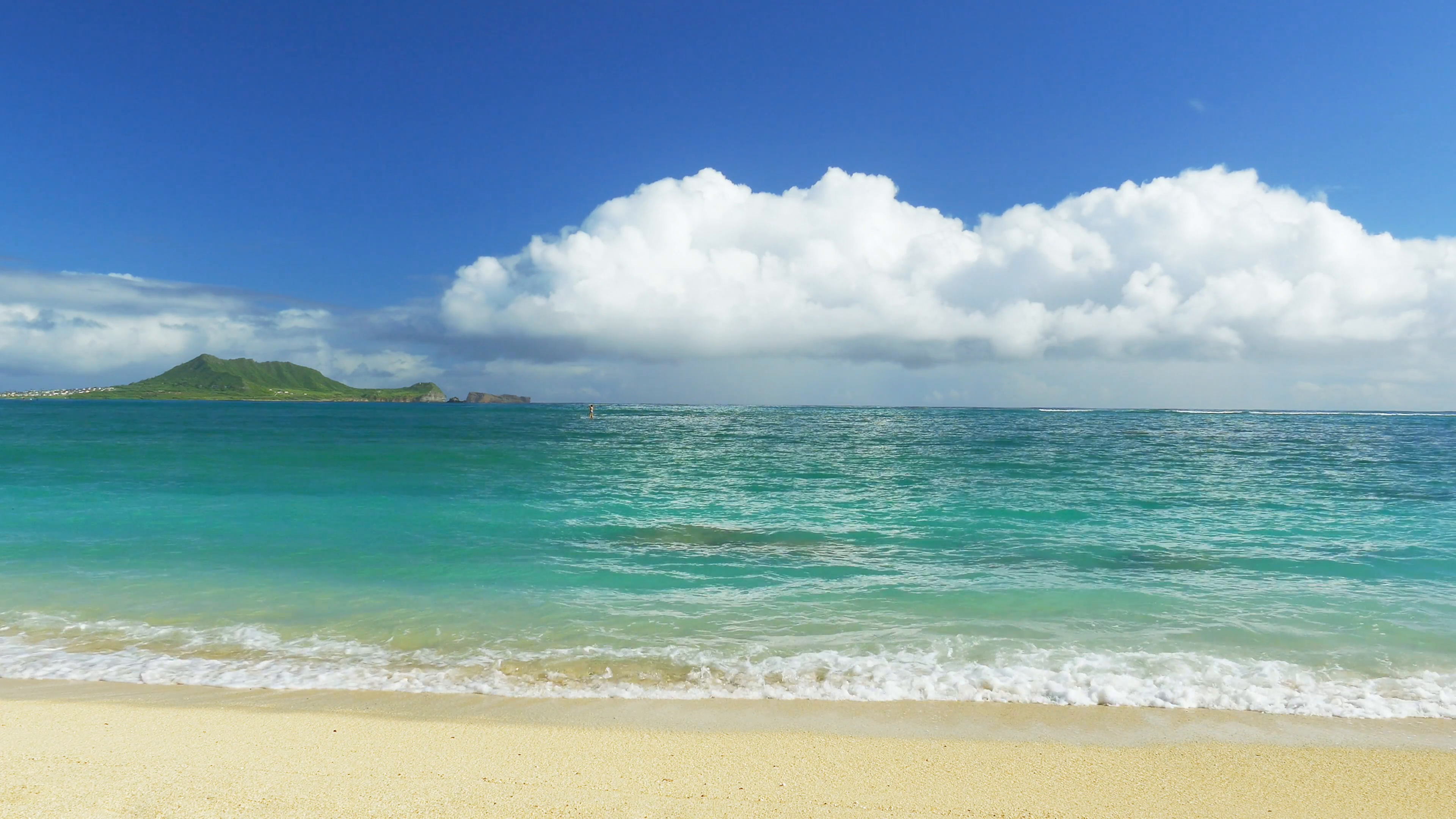 Beautiful Island Beach Shore Sky Nature Idyllic Footage Sea Water Vacation  Travel Tourism Hawaii Peaceful HD Stock Video Footage - VideoBlocks - Sea PNG HD