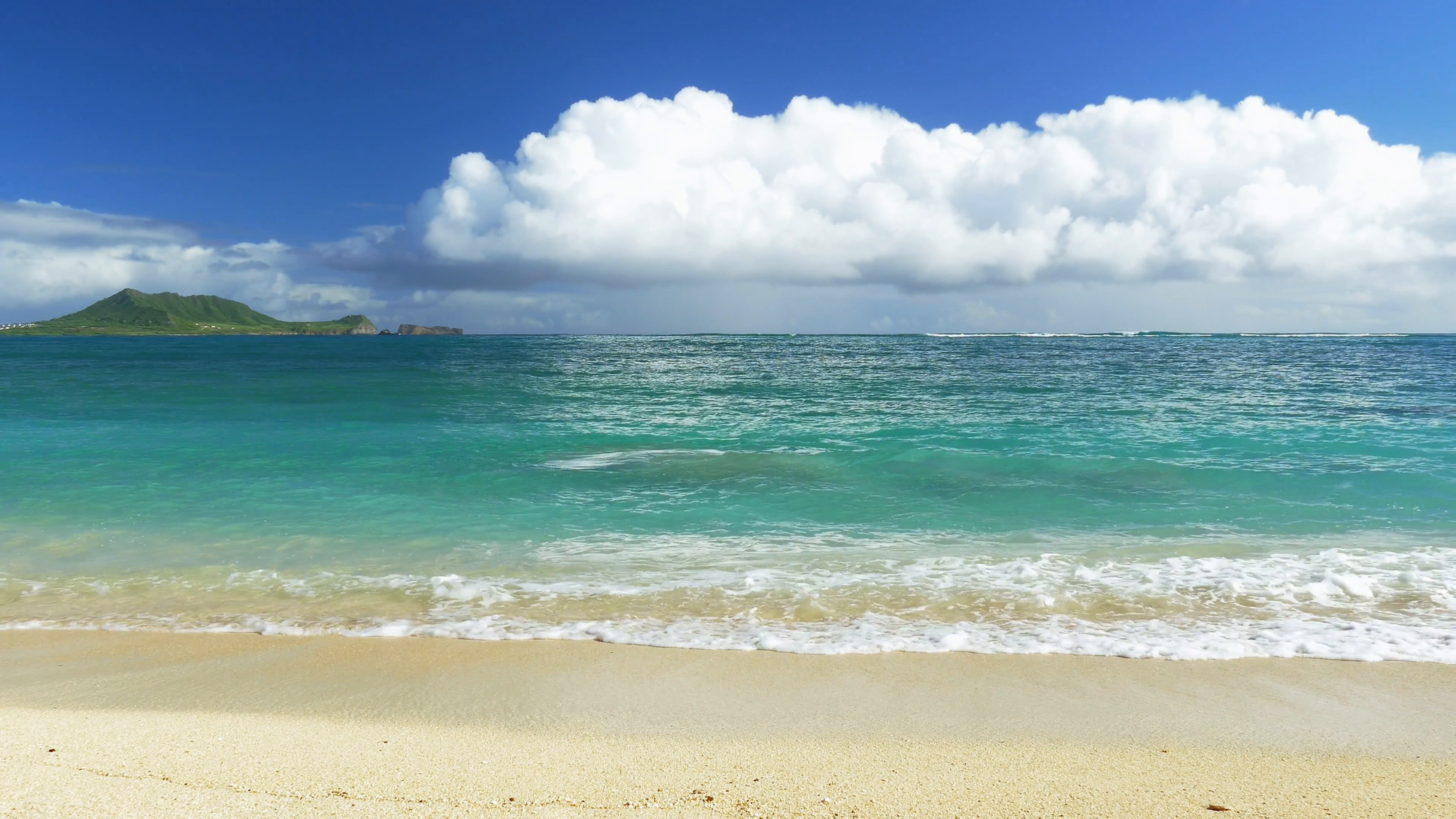Idyllic Island Beach Shore Sky Nature Beautiful Footage Sea Water Vacation  Travel Tourism Hawaii Peaceful HD Stock Video Footage - VideoBlocks - Sea PNG HD