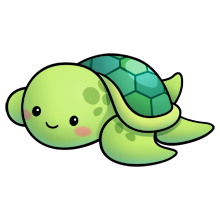Sea Turtle - just because I freaking adore TURTLES - Sea Turtle Cartoon PNG