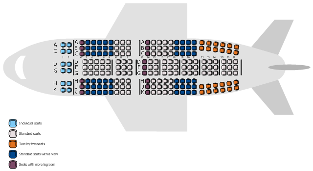 Airplane seat plan - Seat HD PNG