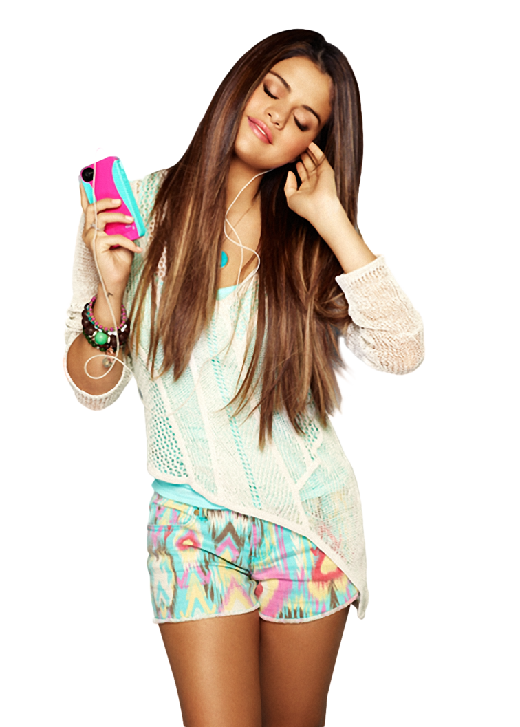 Selena Gomez Listening Song Png PNG Image - Selena Gomez PNG