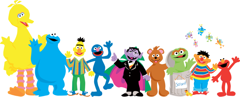 Cutout Sesame Street Characters used for inspiration - Sesame Street Characters PNG