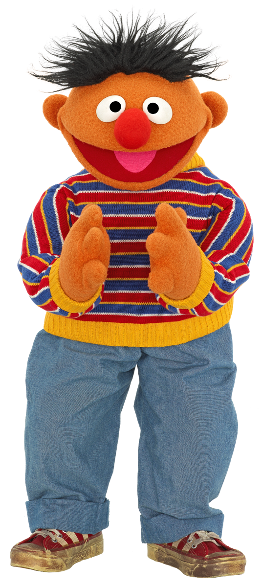 Ernie Clapping.png 536×1,200 pixels - Sesame Street Characters PNG
