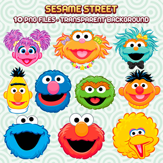 Sesame Street Clipart, Sesame Street PNG, Sesame Street Characters,Cookie  Monster PNG, Instant Download 37 - Sesame Street Characters PNG