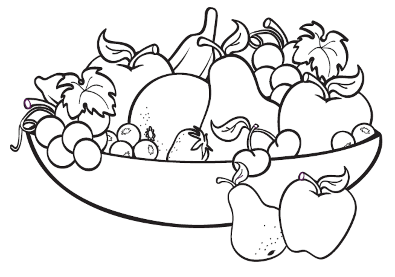 Refundable Black And White Pictures Of Fruits Fruit Bowl Drawing For Kids  Applique Pinterest Digital Image - Set Of Fruits PNG Black And White