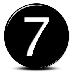 Seven PNG Black And White - 87567