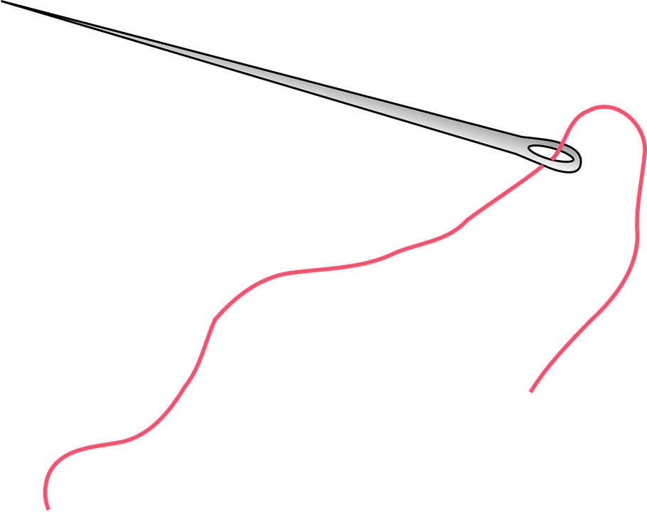 needle thread sew sewing seamstress needlework - Sewing Needle PNG HD