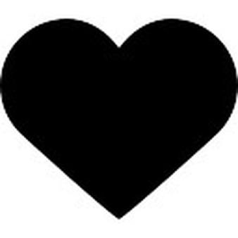 Like black heart button - Shape PNG