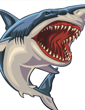 Rendered Shark Attack Clipart Png - Shark Bite Mark PNG