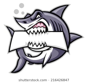 shark bite a blank sign - Shark Bite Mark PNG