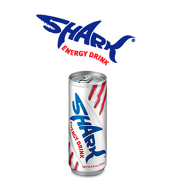 SHARK Carbonated Energy Drink - Shark Energy PNG