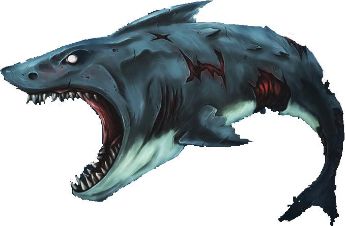 Zombie Shark.png - Shark PNG