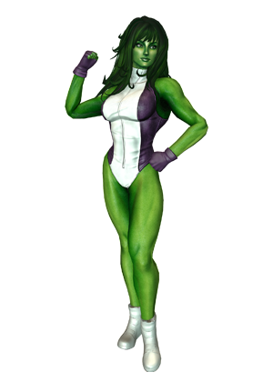 Click an image below to get a closer look at She-Hulku0027s first costumes in  Marvel Heroes 2015. - She Hulk PNG