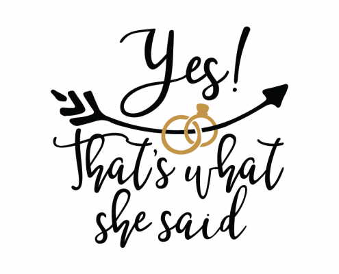 She Said Yes PNG - 41929