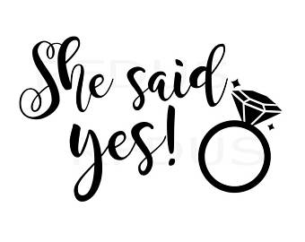 She Said Yes PNG - 41930