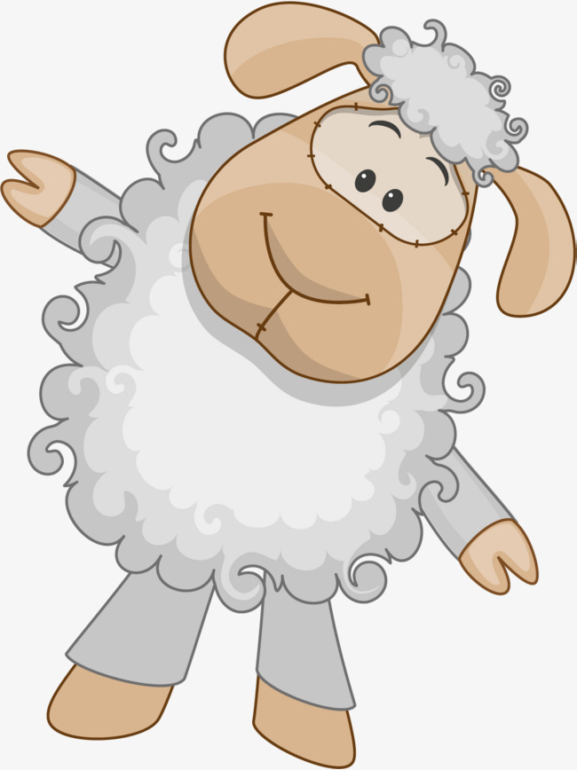 Hand Painted White Sheep, Hand, Adorkable, Wool PNG Image And Clipart - Sheep And Wool PNG