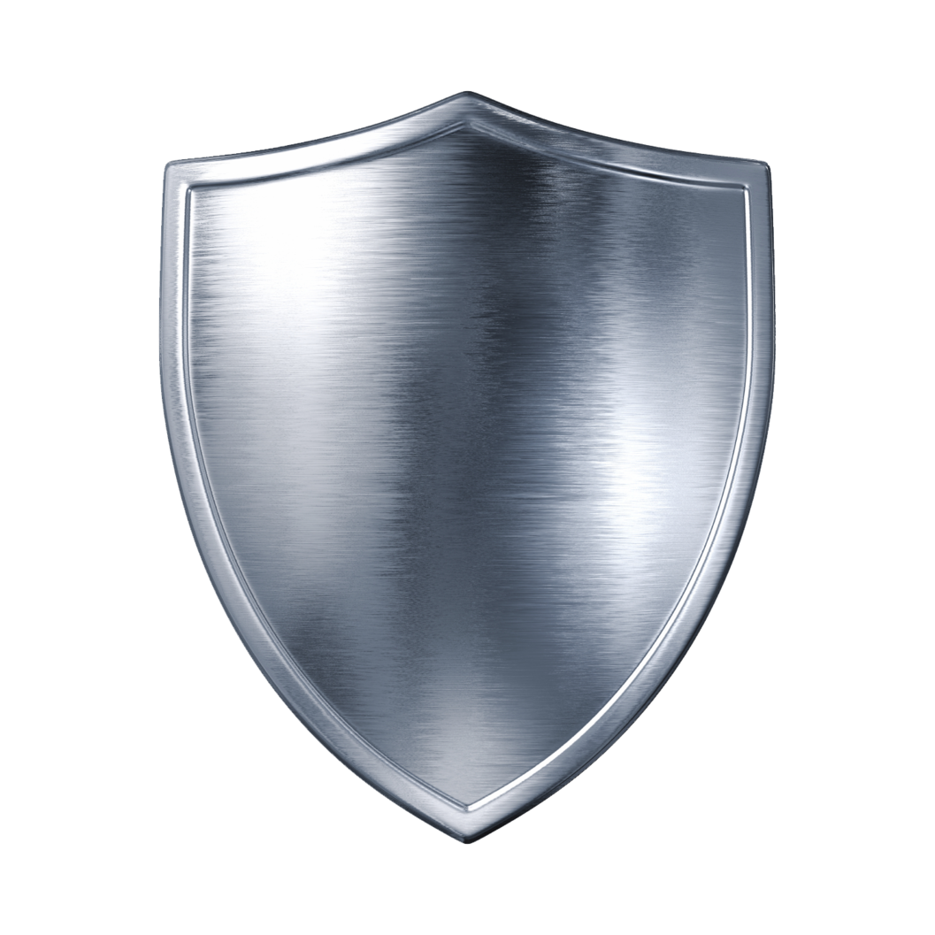 silver metal shield PNG image - Shield PNG