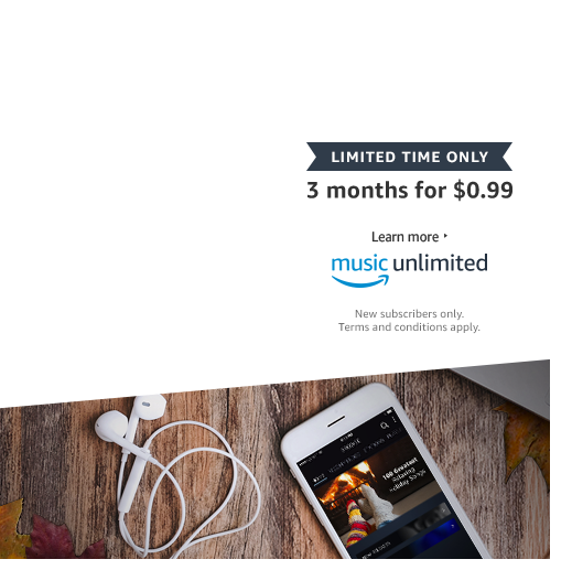 For a limited time. 3 months for $0.99. Amazon Music Unlimited. New  subscribers - Shipping HD PNG