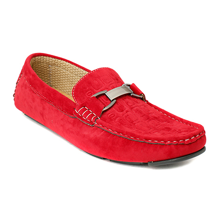 Mens Red Velvet Loafer Shoes - Shoe HD PNG