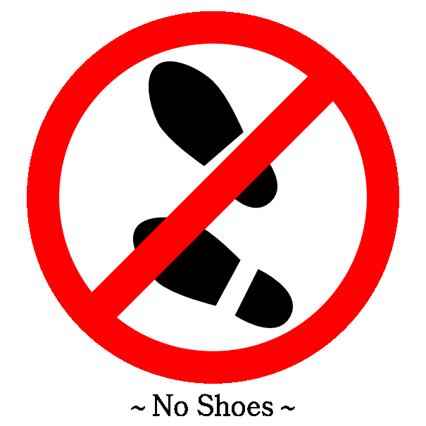Shoes Off PNG
