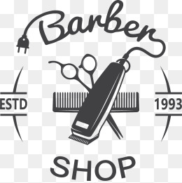 barber shop sign, Vector, Decoration, Barbershop PNG and Vector - Shop PNG Black And White