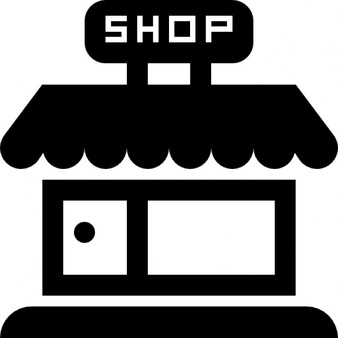 Shop store frontal building - Shop PNG Black And White