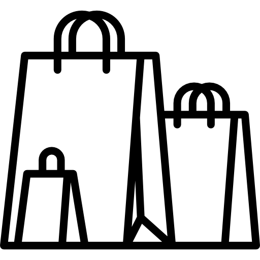 shopping bags png black and white transparent shopping