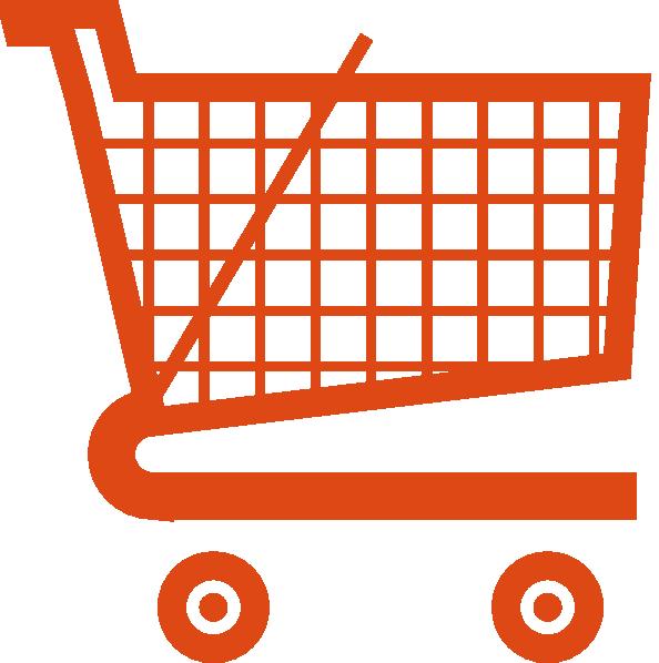 Orange Shopping Cart Clip Art At Clker Pluspng.com - Vector Clip Art Online,  Royalty Free U0026 Public Domain - Shopping Carts PNG