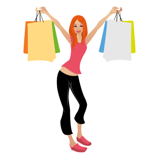 Blonde shopping girl