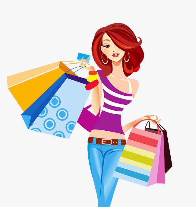 girl carrying shopping bags element, Girl, Element, Shopping PNG Image and  Clipart - Shopping PNG