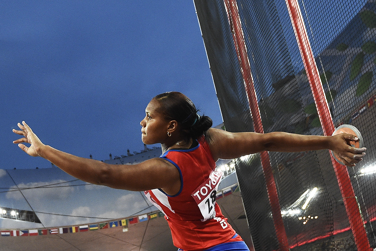 Cubau0027s Denia Caballero in the discus at the IAAF World Championships  Beijing 2015 (AFP / - Shot Put PNG HD