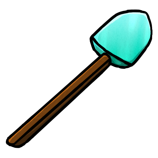 diamond, shovel icon - Shovel HD PNG