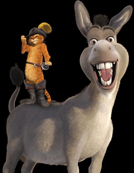 Donkey and Puss - Shrek Donkey PNG