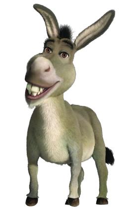 Donkey-transparent.png - Shrek Donkey PNG