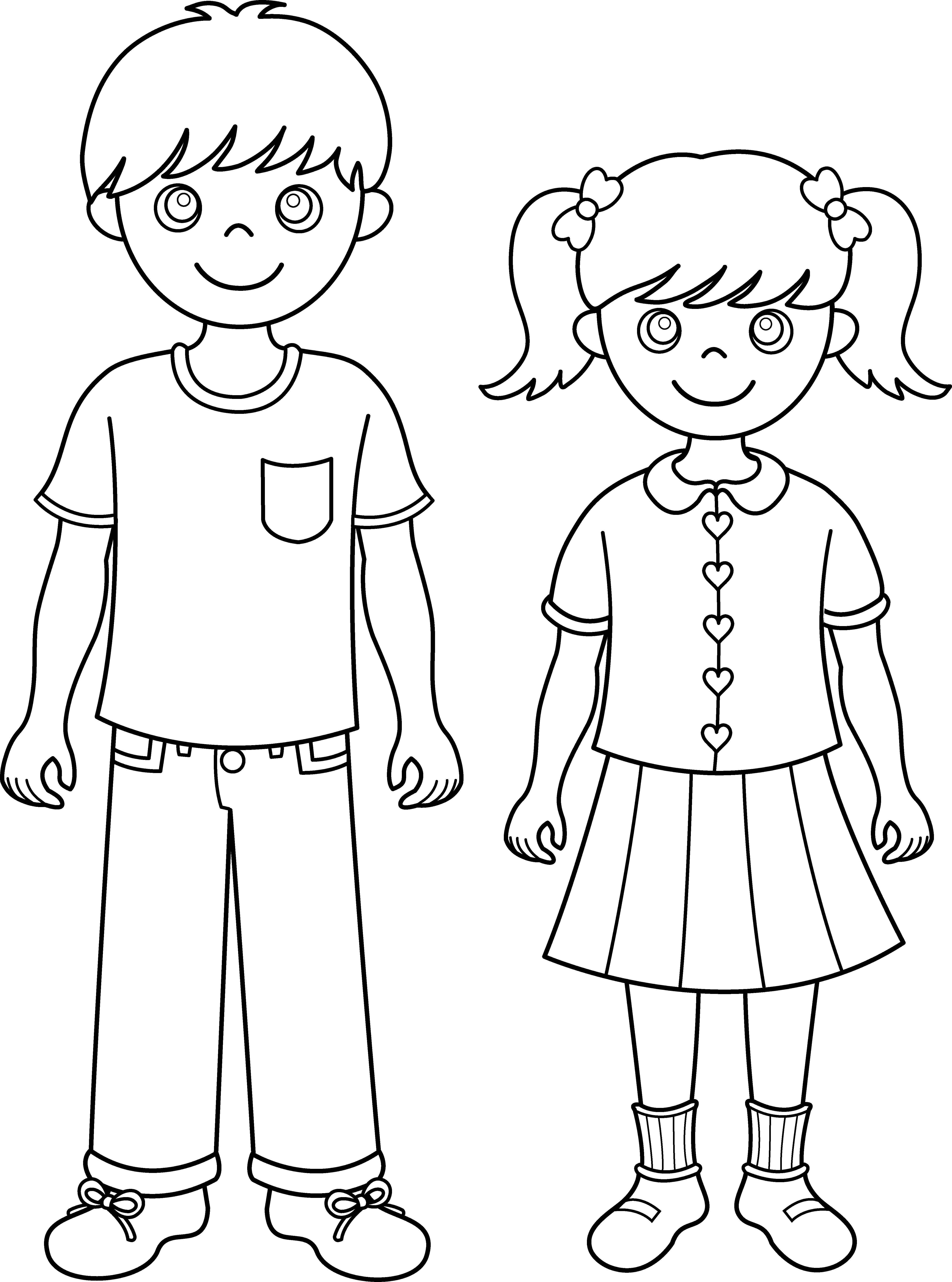 Clip Arts Related To : Sisters clipart black and white - Siblings PNG Black And White