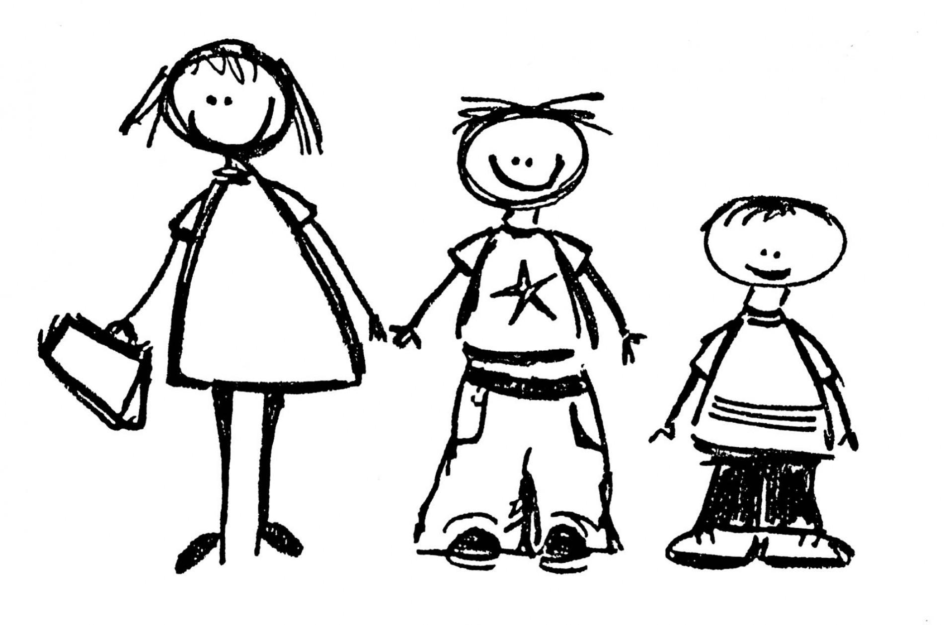 Siblings clipart black and white. Siblings clipart - Siblings PNG Black And White