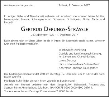 Anzeige von Gertrud Derungs-Strässle | www.sich-erinnern.ch -  gertrud-derungs-straessle#/trauerfall - Sich Erinnern PNG