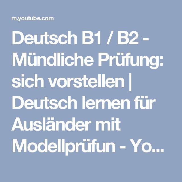 Deutsch B1 / B2 - Mündliche Prüfung: sich vorstellen | Deutsch lernen für  Ausländer mit - Sich Vorstellen PNG