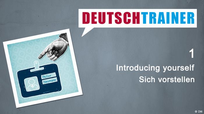 Deutschtrainer u2013 1 Sich vorstellen - Sich Vorstellen PNG