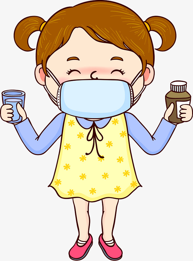 cartoon sick little girl, Cartoon, Sick, Little Girl PNG Image and Clipart - Sick Girl In Bed PNG