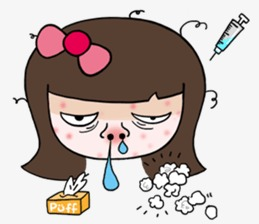 cold, Sick, Girl PNG Image and Clipart - Sick Girl In Bed PNG