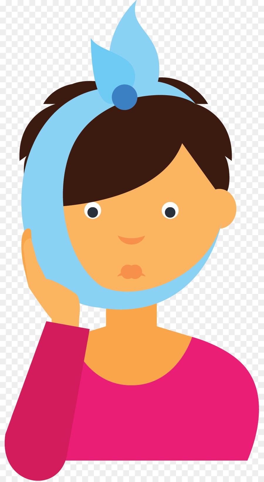 Toothache Gums Clip art - sick - Sick Girl In Bed PNG