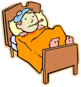 . PlusPng.com Hd Sick Person In Hospital Bed Cartoon Illustration - Clip Art Library  PlusPng.com  - Sick In Bed PNG HD