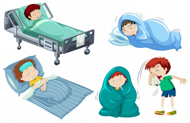 Kids being sick in bed - Sick In Bed PNG HD