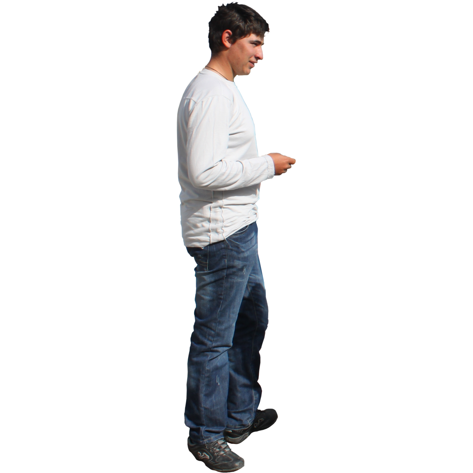 Side View Of A Person Standing PNG-PlusPNG.com-1600 - Side View Of A Person Standing PNG