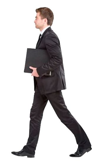 cutout man walking - Side View Of A Person Standing PNG