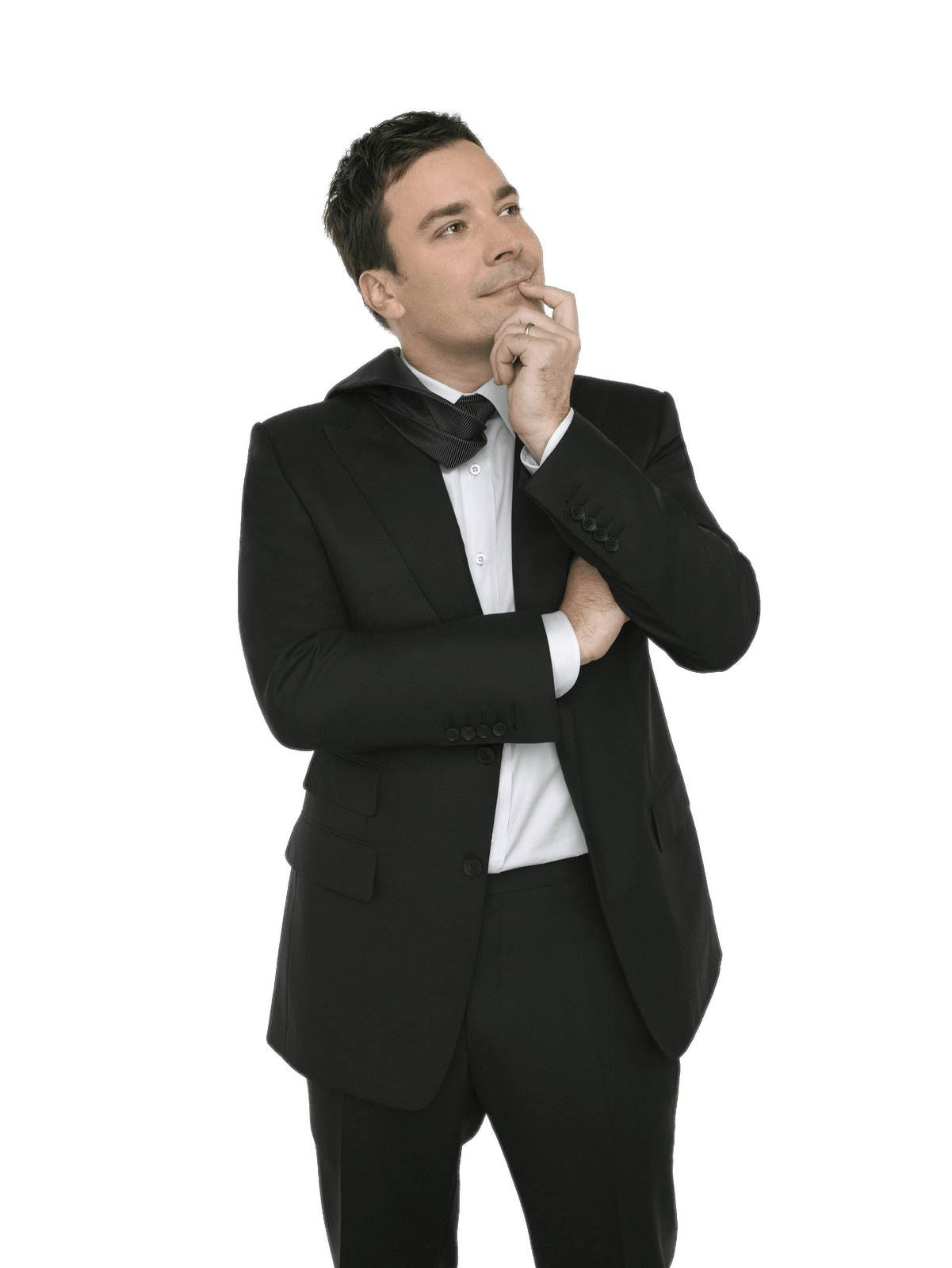 Jimmy Fallon Thinking - Side View Of A Person Standing PNG